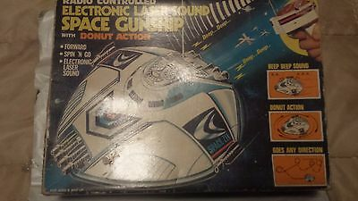 space ship from the 70's/80's, radio controlled, in box electronic laser sound