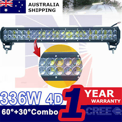 23inch 336W CREE 4D LED Light Bar SUV Jeep Offroad 12V 24V 4x4 spot flood light