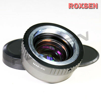 Focal Reducer Speed Booster Adapter M42 screw mount lens to Fujifilm X-E2 T1 FX
