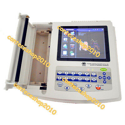 CONTEC Digital ECG1200G 12 Channel/lead ekg electrocardiograph, software, FDA CE
