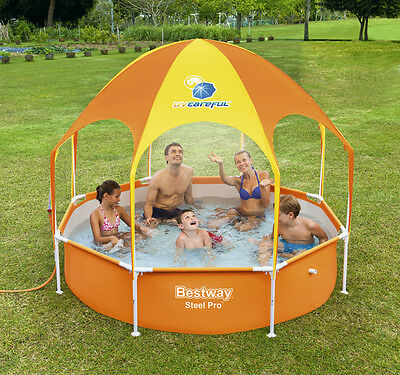 Bestway Splash - In - Shade Play Pool/ Uv Careful/ Metal Frame Rust - Resistant