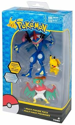 Pokemon Multi Figure Pack -  Pikachu/Ash Greninja/Hawlucha -  T19148 - NEW