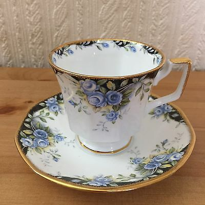 Queens Midnight Rose Cup And Saucer