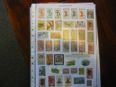 Madagascar...over 3 Pages Of Madagascar Stamps Inc. French Colonials