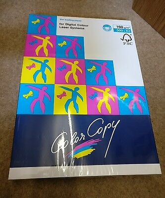 Mondi Color Copy Copier Paper White. 100 g/m2. 500 sheets. A3. New, Unopened.