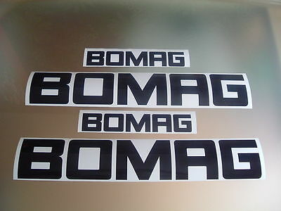 Bomag Dumper / Roller / Wacker Decals Stickers
