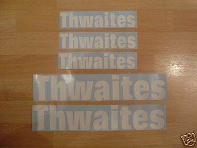 Thwaites Dumper Stickers /  Decals  Plant Machinery