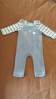 3-6 Months Baby Boy Romper and T-Shirt Set From M&S