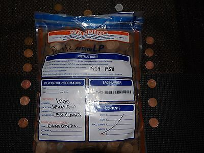A+ WHEAT CENTS I000cnt + BAG (7 + LBS) INDIANS -SILVER-STEELS -ALL FOUND!!!!!.