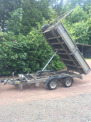 Ifor Williams 10' X 5' Hydraulic Tipping Trailer Flatbed Drop Side Electric Tip