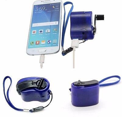 Manual phone charger dynamo/crank charger, no power needed. free shipping