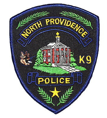 NORTH PROVIDENCE - K-9 - RHODE ISLAND RI Police Sheriff Patch DOG COURTHOUSE ~