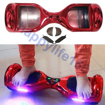Chrome Red Shell Hoverboard For 2 Wheels Self Balancing Electric Scooter