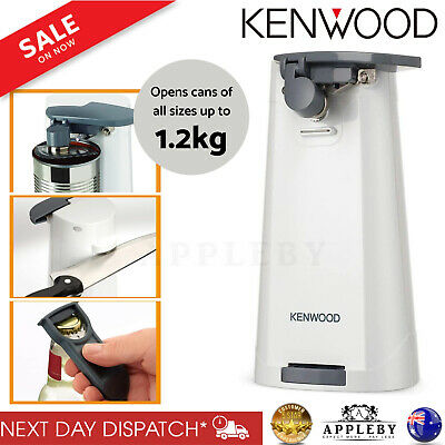 Kenwood Electric Automatic Tin Can Bottle Opener Kitchen Knife Sharpener 3 in1
