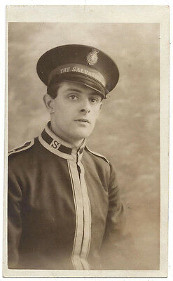 Salvation Army Officer, Old RP Postcard Unused