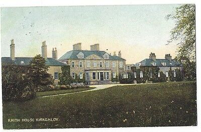 RAITH HOUSE Kirkcaldy, Old Postcard by JGB Postally Used 1907