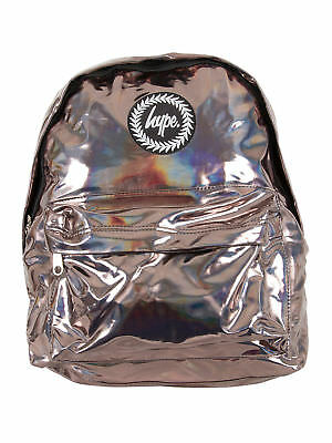 Hype Men's Holographic Logo Backpack, Brown