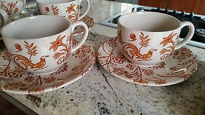 Laura Ashley Vintage ORIENTAL GARDEN Tea SET Cream Sugar TEA PLATES Johnson Bros
