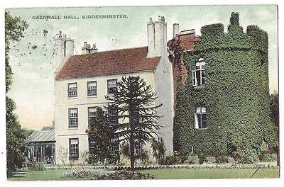 KIDDERMINSTER Caldwall or Caldwell Hall, Old Postcard Postally Used 1911
