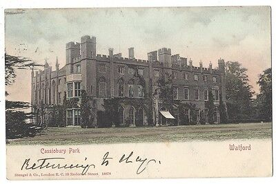 CASSIOBURY PARK Watford, Early Undivided Back Postcard by Stengel, Posted 1904