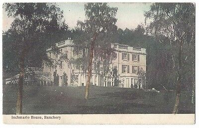 INCHMARLO HOUSE near Banchory, Old Postcard by LS&S, Postally Used 1905