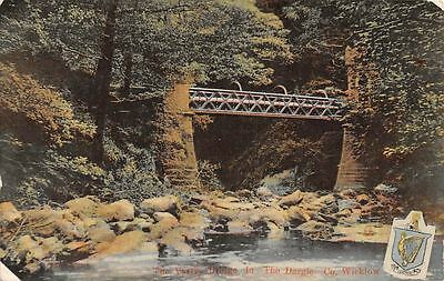 Ireland Co. Wicklow, The Vartry Bridge in The Dargle, Coat of Arms, Emblem 1907