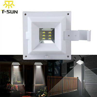 Motion Sensor LED Solar Power Security Gutter Outdoor Garden Spot Flood Light AU