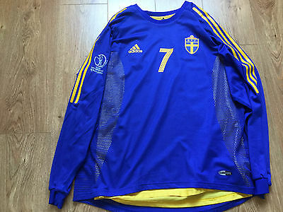 Sweden Svenska Match Worn Football Shirt World Cup 2012 Soccer Jersey Trikot