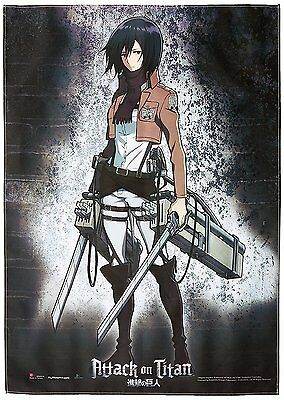 *NEW* Attack on Titan: Mikasa Fabric Poster by GE Animation