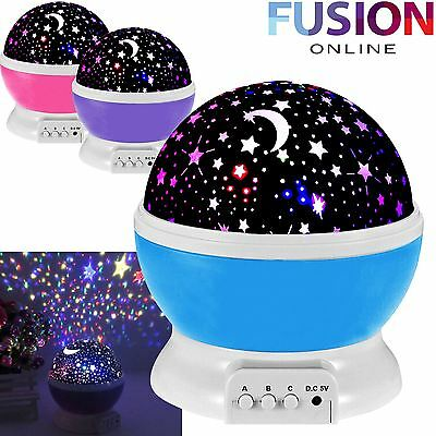 Childrens Night Light Star Sky Led Projector Rotating Master Magic Kids Lamp