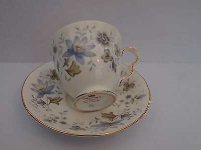 Cup & Saucer. Colclough Bone China Made In England. Blue Floral Design