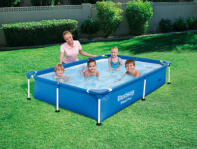 BESTWAY SPLASH Jr FRAME POOL 221 x 150cm - WATER CAPACITY 1200L