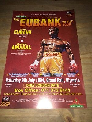 Chris Eubank Official Onsite Boxing Fight Flyer Poster