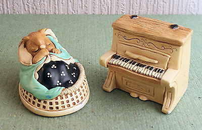 Pendelfin Rabbit 'Poppet' and a piano