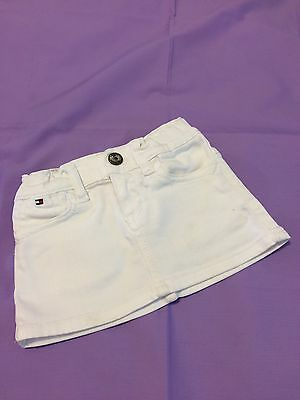 Tommy Hilfiger Baby White Denim Skirt  9-12 Months