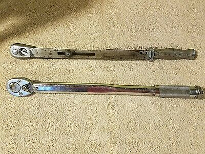 Williams S57 and Proto 6016-4 torque wrench lot of 2