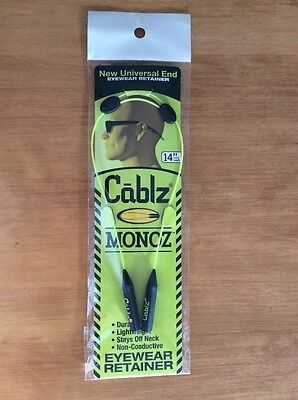 "NEW Cablz Monoz adjustable 14"" yellow universal end eyewear retainer w/FREE ship"