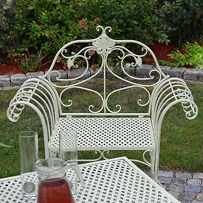 Baroque Chair Armchair Antique Style White Garden Furniture Seat Vintage French