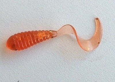 SOFT PLASTIC Worm Style  Orange 20 pack, Fishing Tackle Lures