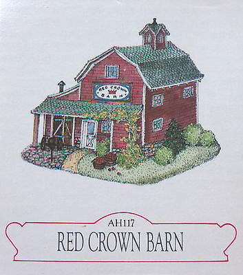 Liberty Falls Colorado Village Figure AH117 Red Crown Barn 1996 In Box