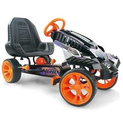 Nerf Battle Racer Ride-on, Kids Pedal Ride On Car with Holsters & Handbrake BNIB