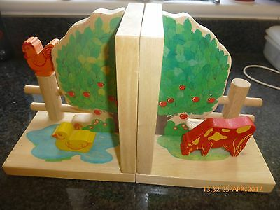 Wooden Nursery bookends