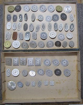 Lot of 71 Vintage/Antique Assorted Watch Dials - New/Old Stock