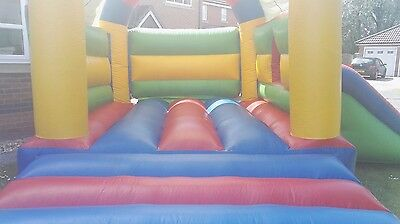 Ex Commercial 11 x 15 Combination Slide & Bouncy Castle with Blower and Pegs