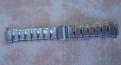 stainless steel and gold plated bracelet to fit men's Pulsar kinetic watch