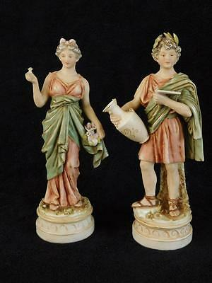 Pair Of Royal Dux Figurines In Classical Dress