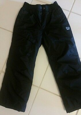 Rway Black Boys Girls Snow Ski Pants Size 7/8