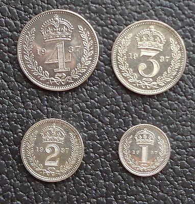 1937 George VI Maundy Money Silver 4 Coin Set