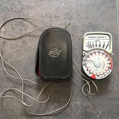 weston master v light meter Vintage Fully Working Case And Manual Included