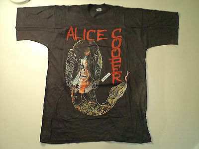 Vintage  ALICE COOPER  80s 90s Unused T SHIRT dio ozzy iron maiden wasp lp patch